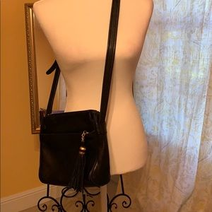 Tignanello Black soft leather crossbody